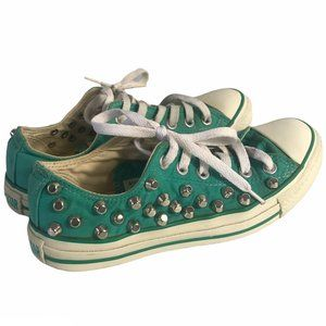 Converse Shoes Studded in Teal